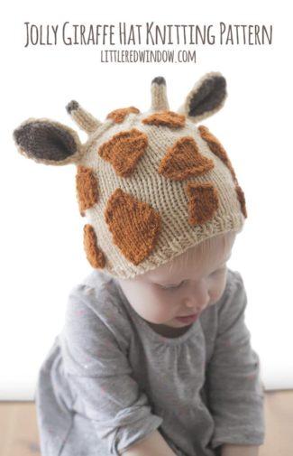 Jolly Giraffe Hat Knitting Pattern