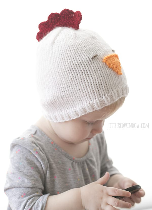 Little Chicken Hat Knitting Pattern Little Red Window