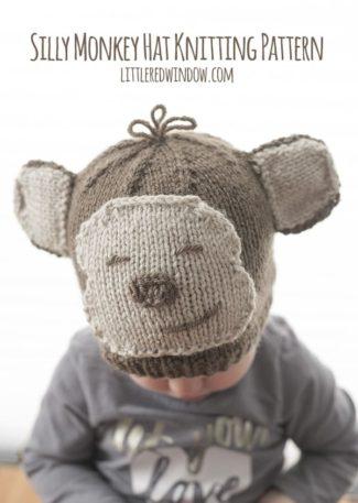 Silly Monkey Hat Knitting Pattern