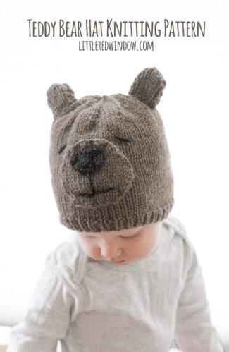 Teddy Bear Hat Knitting Pattern