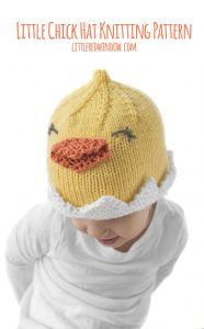 Adorable Baby Chick Hat knitting pattern in sizes from newborn to baby to toddler!