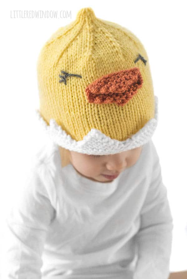 The Little Chick baby hat would fit right in on a farm!