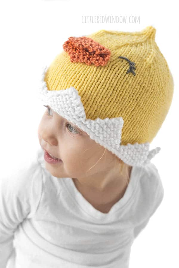 This cute toddler loves her Little Chick Hat!