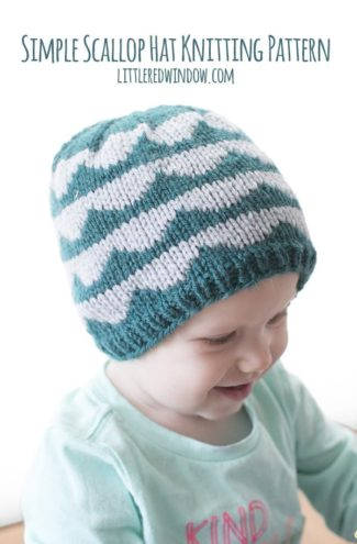 Simple Scallop Hat Knitting Pattern