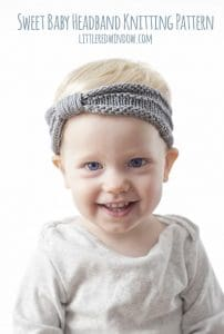 Sweet Baby Headband Knitting Pattern for babies, newborns and toddlers! | littleredwindow.com