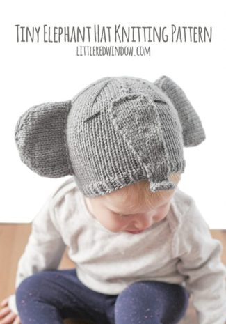 Tiny Elephant Hat Knitting Pattern