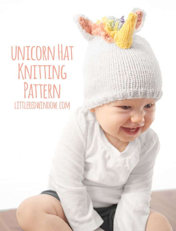 Magical Unicorn Hat Knitting Pattern for babies and ...