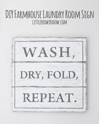 DIY Farmhouse Laundry Room Sign