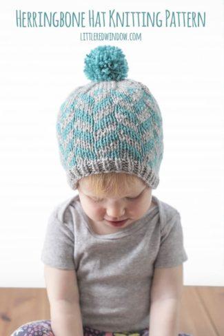 Fair Isle Herringbone Hat Knitting Pattern