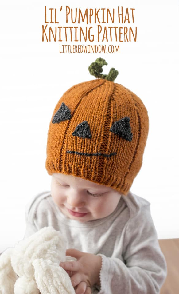 Lil  Pumpkin Hat Knitting Pattern - Little Red Window ad1c0f43350
