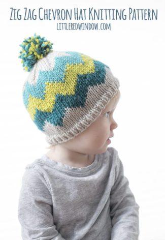 Fair Isle Zig Zag Chevron Hat Knitting Pattern