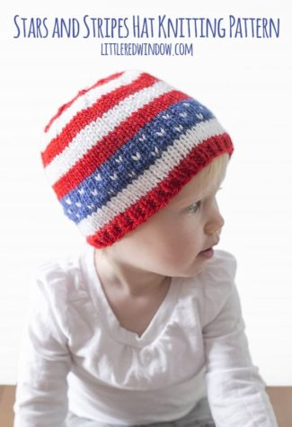 4th of July Stars & Stripes Hat Knitting Pattern