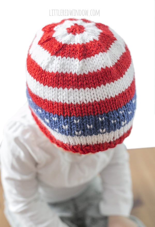 1bc5c9bf0 4th of July Stars   Stripes Hat Knitting Pattern - Little Red Window