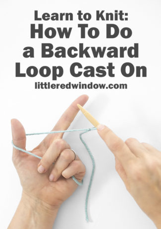 Learn how to use backward loop cast on to start your knitting project or add stitches to the end of a row!