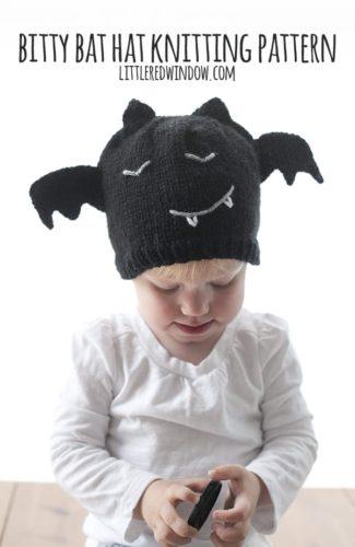 Bitty Bat Hat Knitting Pattern