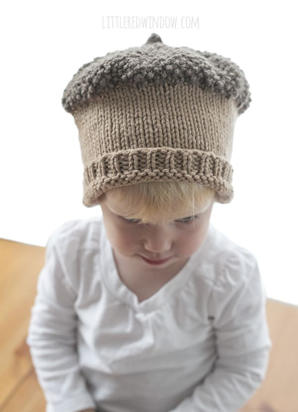 Knitting Pattern For Acorn Hat : Fall Acorn Hat Knitting Pattern - Little Red Window
