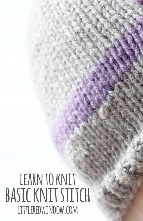 Learn to Knit - Basic Knit Stitch - Little Red Window