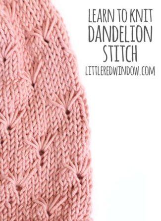 Learn to Knit – Dandelion Stitch