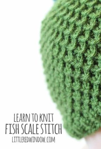 Learn to Knit – Fish Scale Stitch