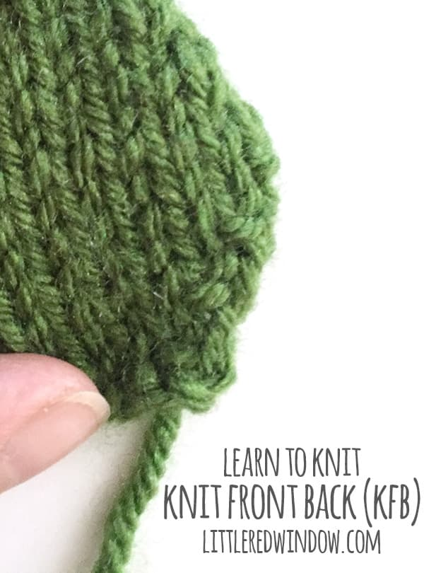 Knit Kfb : Learn to knit front back kfb little red window