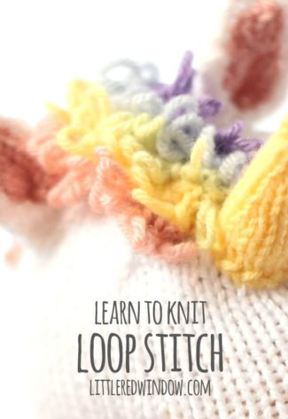 Learn to Knit – Loop Stitch