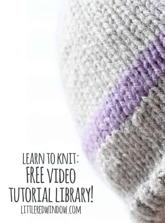 Knitting Basics Getting Started : Learn to knit video tutorials little red window