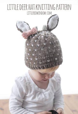 Little Deer Hat Knitting Pattern