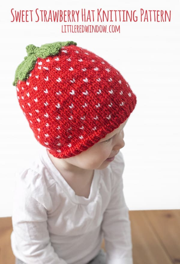 Fair Isle Sweet Strawberry Hat Knitting Pattern - Little Red Window