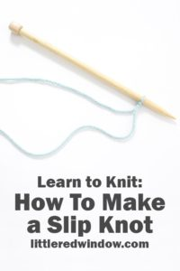 Learn how to make a slip knot to start your knitting or crochet projects!