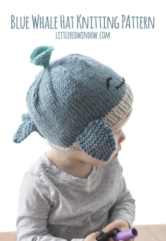 Blue Whale Hat Knitting Pattern