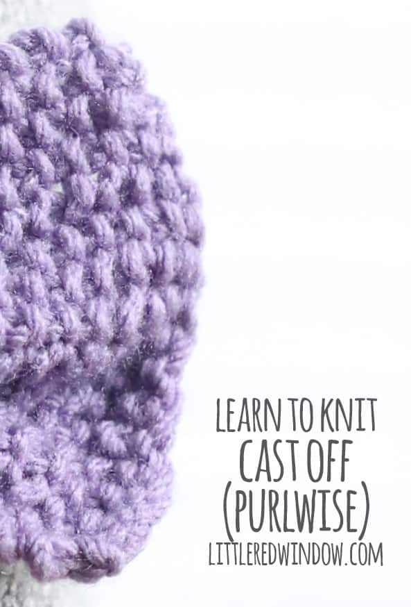 Learn to Knit – Cast off (Purlwise)