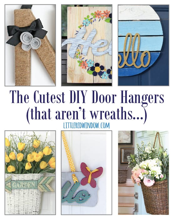 The Cutest DIY Door Hangers (that aren't wreaths...)! | littleredwindow.com