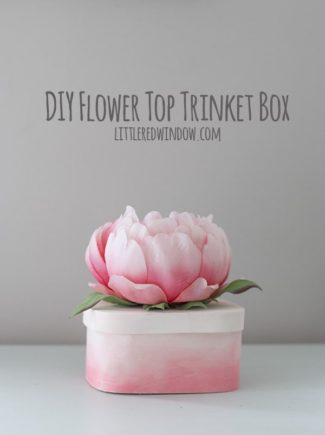 DIY Flower Top Trinket Box