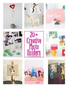 20+Creative DIY Photo Holders and Picture Frame Alternatives! | littleredwindow.com