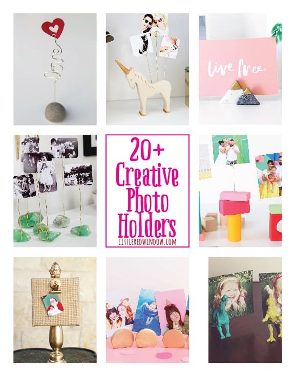 Creative DIY Photo Holders - Little Red Window