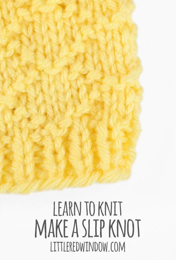 how to make a slip knot for loom knitting