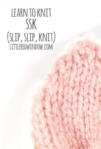 Learn to Knit – SSK (Slip, Slip, Knit)