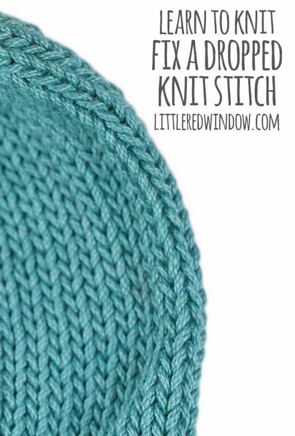 Learn to Knit – Fix a Dropped Knit Stitch