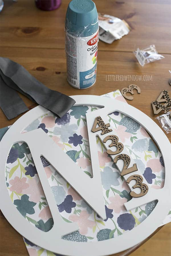 DIY Monogram House Number Door Hanger | littleredwindow.com