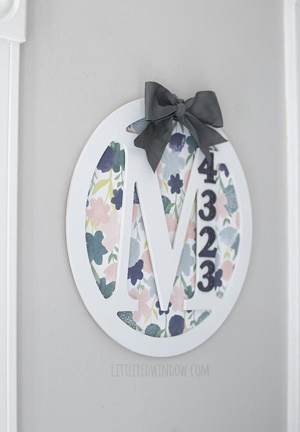DIY Monogram House Number Door Hanger | littleredwindow.com