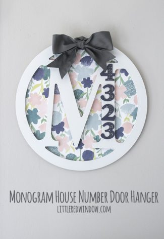 Monogram House Number Door Hanger