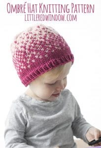 Ombré Hat Fair Isle Knitting Pattern for newborns, babies and toddlers! | littleredwindow.com