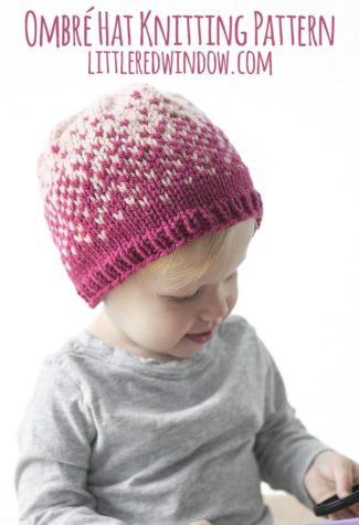 Fair Isle Ombré Hat Knitting Pattern
