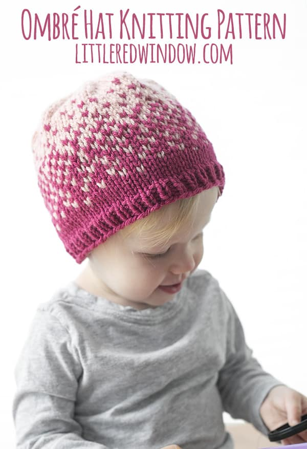 Fair Isle Ombré Hat Knitting Pattern - Little Red Window 528e752735e