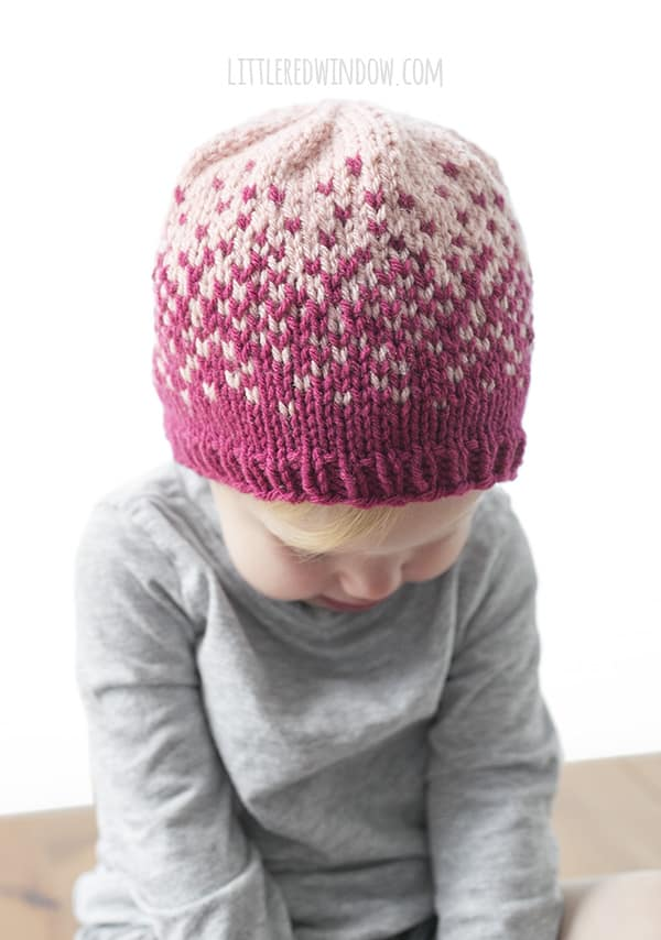 Fair Isle Ombré Hat Knitting Pattern - Little Red Window