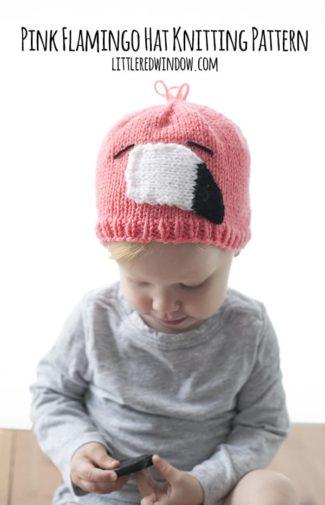 Pink Flamingo Hat Knitting Pattern
