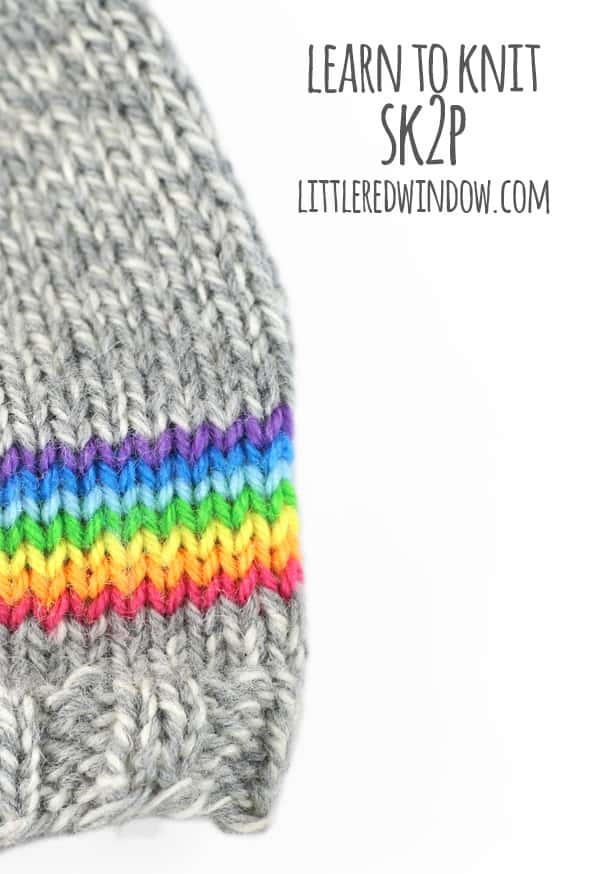 Learn to Knit – Sk2p (Slip1, Knit Two Together, Pass Slipped Stitch Over)