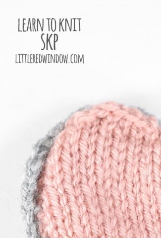 Learn to Knit – Skp (Slip 1, Knit1, Pass Slipped Stitch Over)