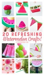 20 Delicious, Refreshing and Summery Watermelon Crafts! | littleredwindow.com