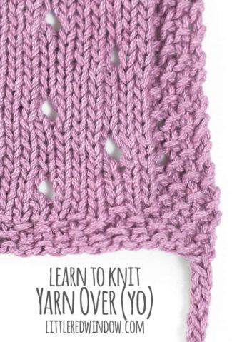 Learn to Knit – Yarn Over (yo)